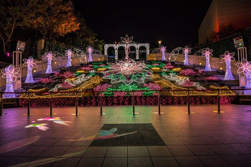 Nambaparken, Osaka, Japan - November 2017 royalty-vrije stock foto