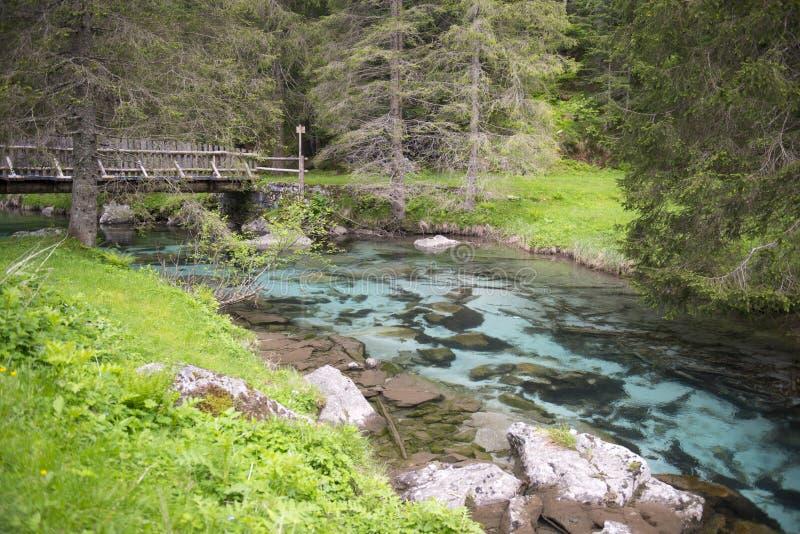 Nambronevallei, Dolomiet van Brenta stock foto's