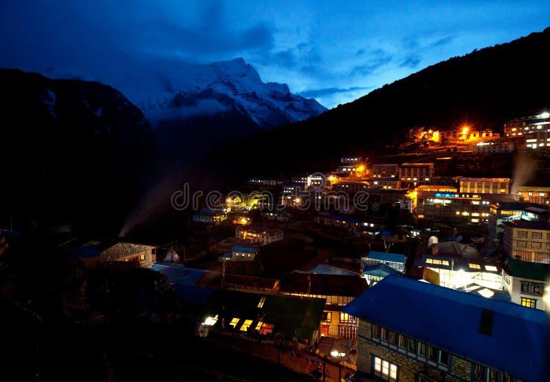 Download Namche Bazaar stock photo. Image of sagarmatha, hike - 14090112