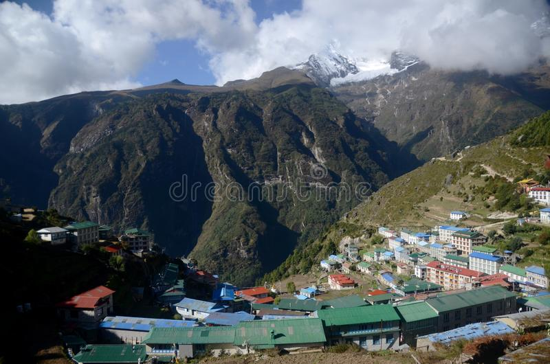 Download Namche Bazaar editorial stock photo. Image of namche - 21927388