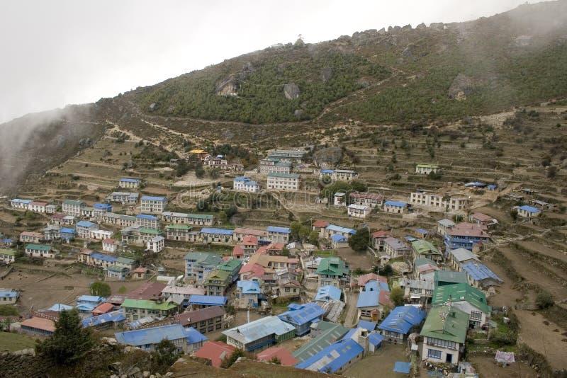 Namche Bazar, Nepal stock afbeeldingen