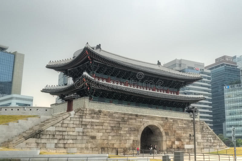 Download Namdaemun Gate, Seoul editorial photography. Image of plaza - 34984447