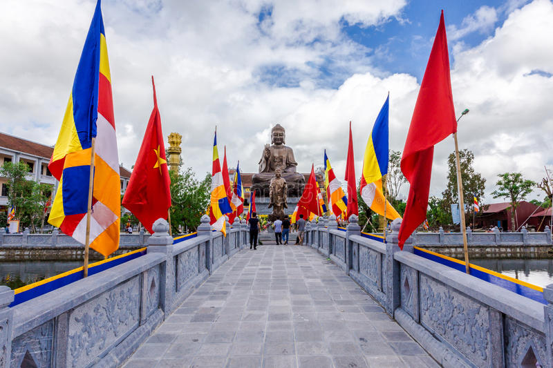 NAMDINH, VIETNAM - SEPTEMBER 2, 2014 - entrance to Truc Lam Thien Truong. royalty free stock photo