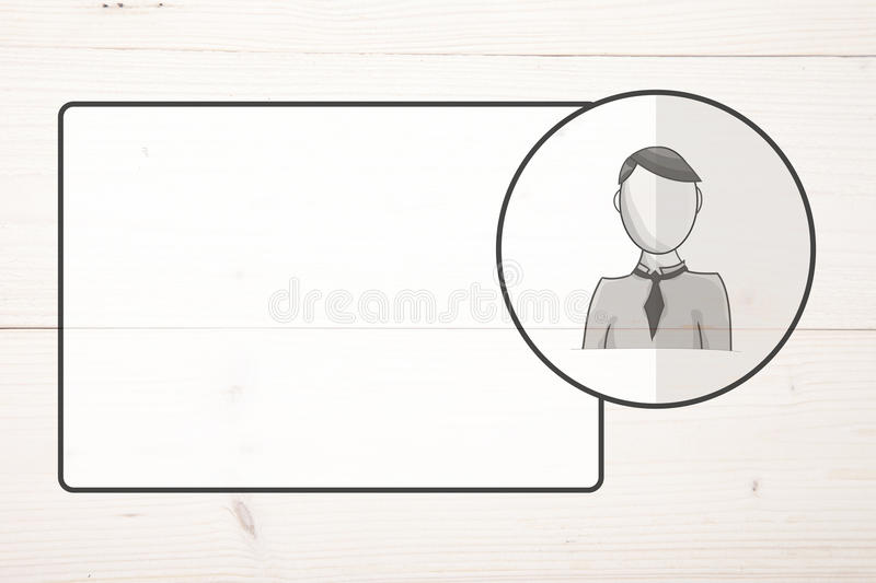 Name badge with avatar vector illustration