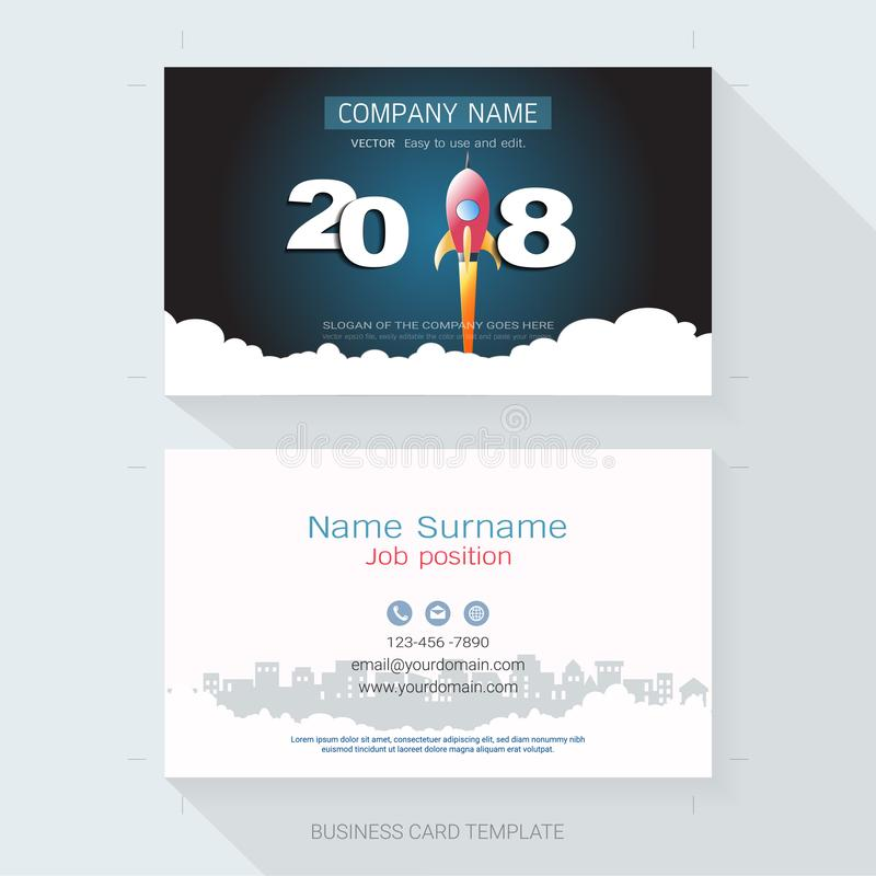 Name card or business card design template stock vector name card or business card design template the style is simple also modern and elegant and it can be suitable for company name its fully layered and colourmoves