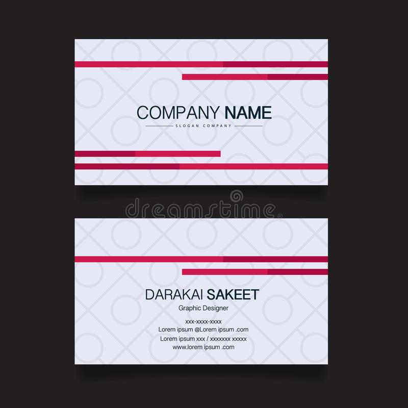 Name Card, Modern Simple Business Card Template Stock Vector ...