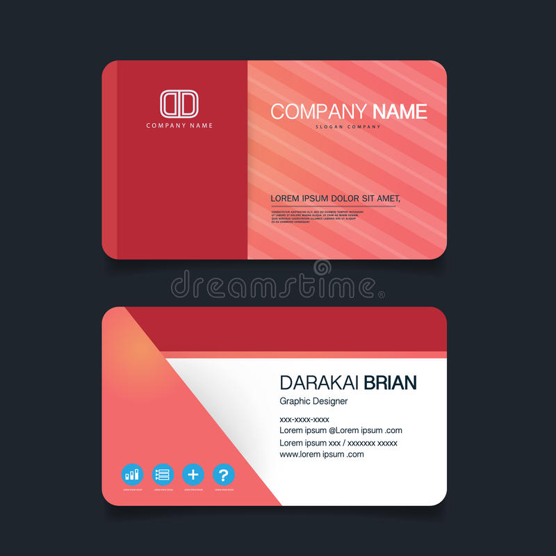 Name Card, Modern Simple Business Card Template. Vector ...
