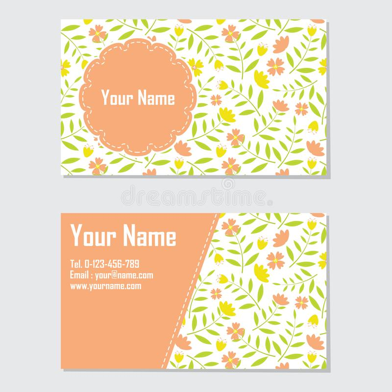 Yellow and orange flower business card stock illustration download yellow and orange flower business card stock illustration illustration of corporate message mightylinksfo