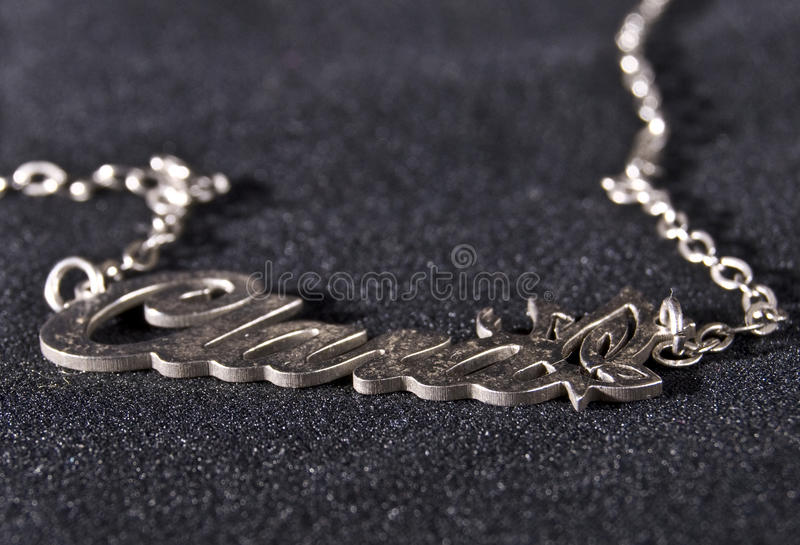 Name chain royalty free stock images