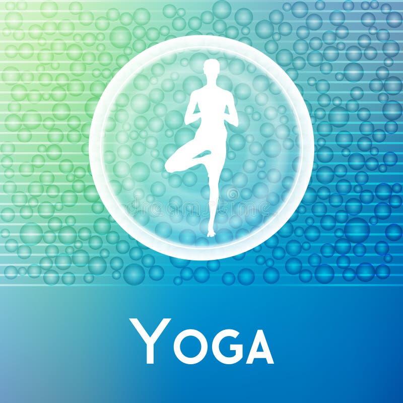 Name des Yogastudios auf einem abstrakten Hintergrund lizenzfreie abbildung
