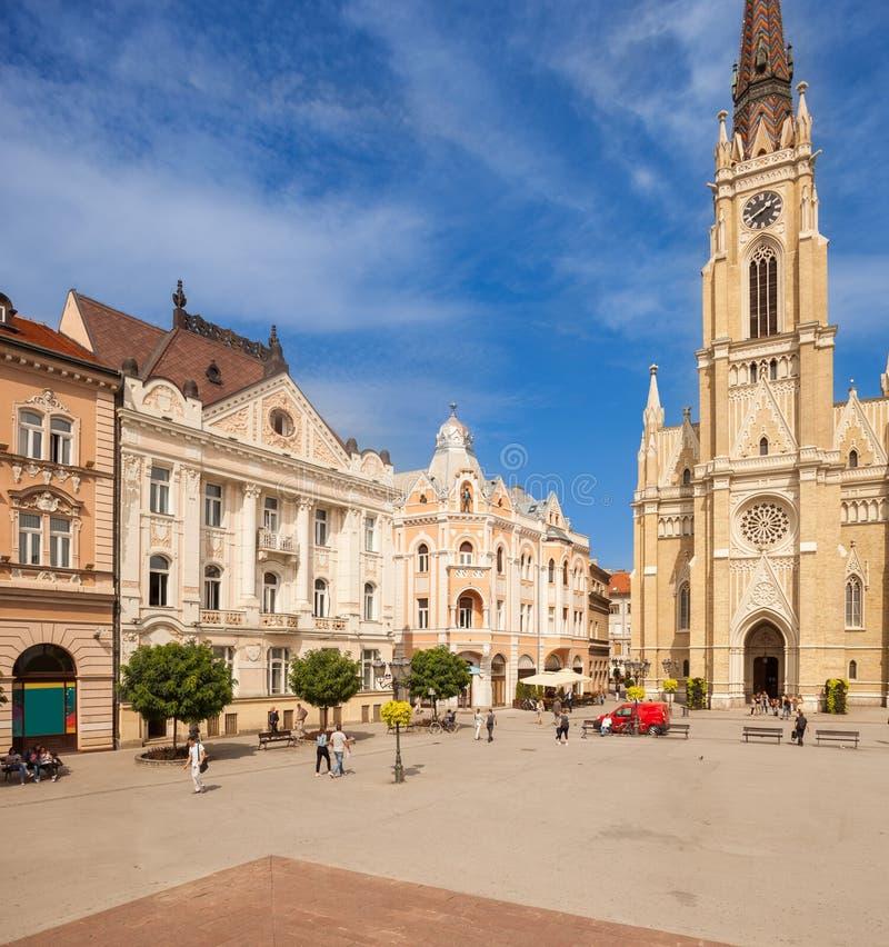 Cathedral, Liberty Square Trg Slobode, Novi Sad royalty free stock image