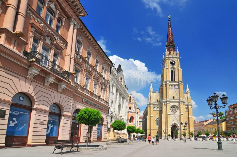 The Name of Mary Church a Roman Catholic church dedicated to the feast of Holy Name of Mary. Novi Sad Serbia stock photo