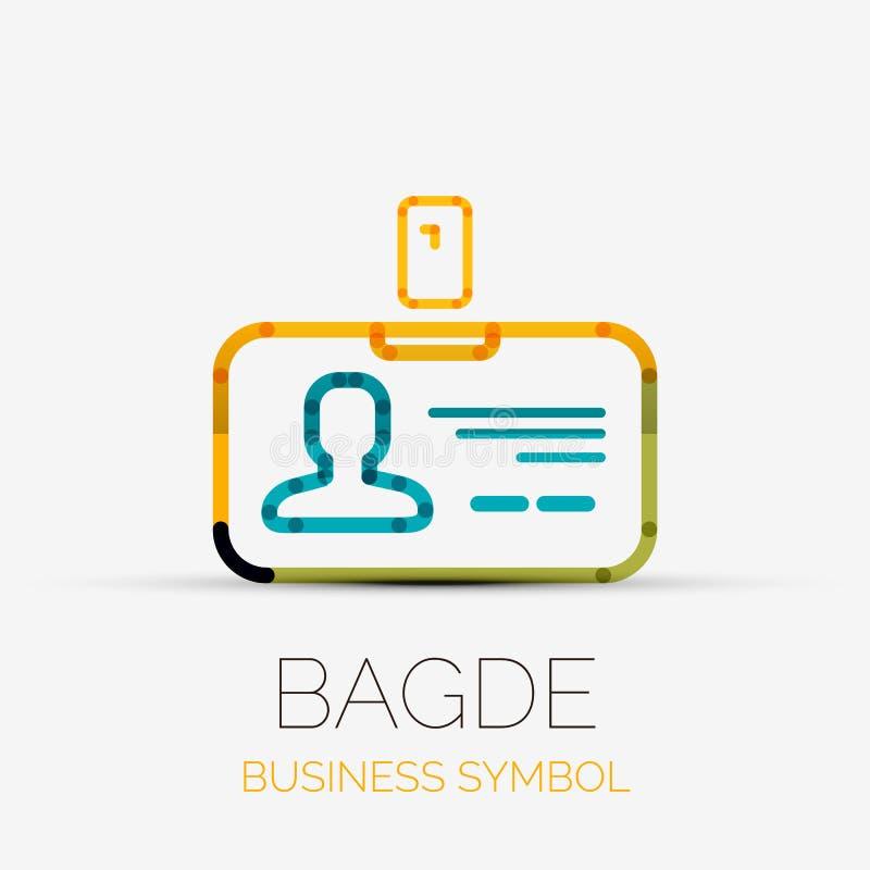 Name tag company logo, business symbol concept. Vector name tag - badge company logo design, business symbol concept, minimal line design stock illustration