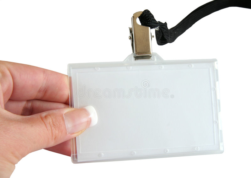 Download Name tag and hand stock photo. Image of copyspace, authorisation - 1046062