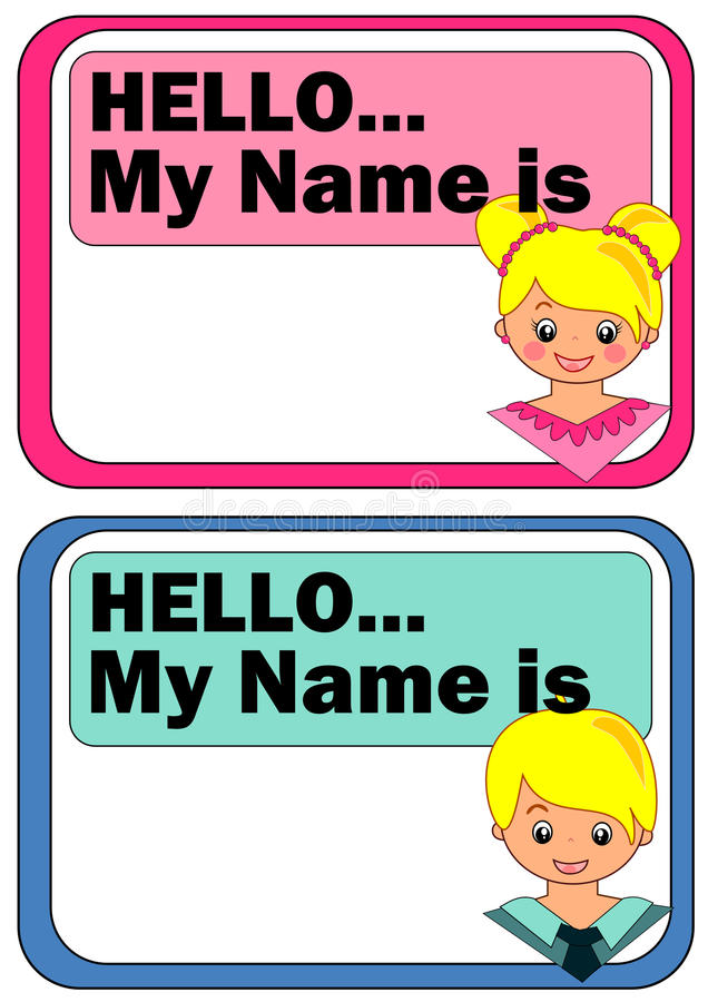Name Tags for Kids stock vector. Illustration of frame - 45139471