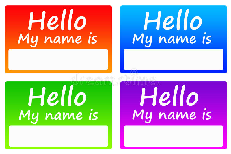 Name tags stock illustration