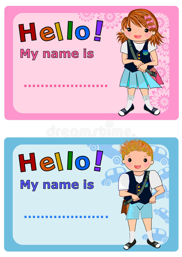 Cute Name Tag Template