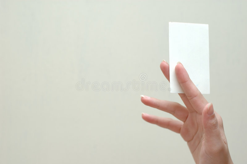 Namecard en hand royalty-vrije stock fotografie