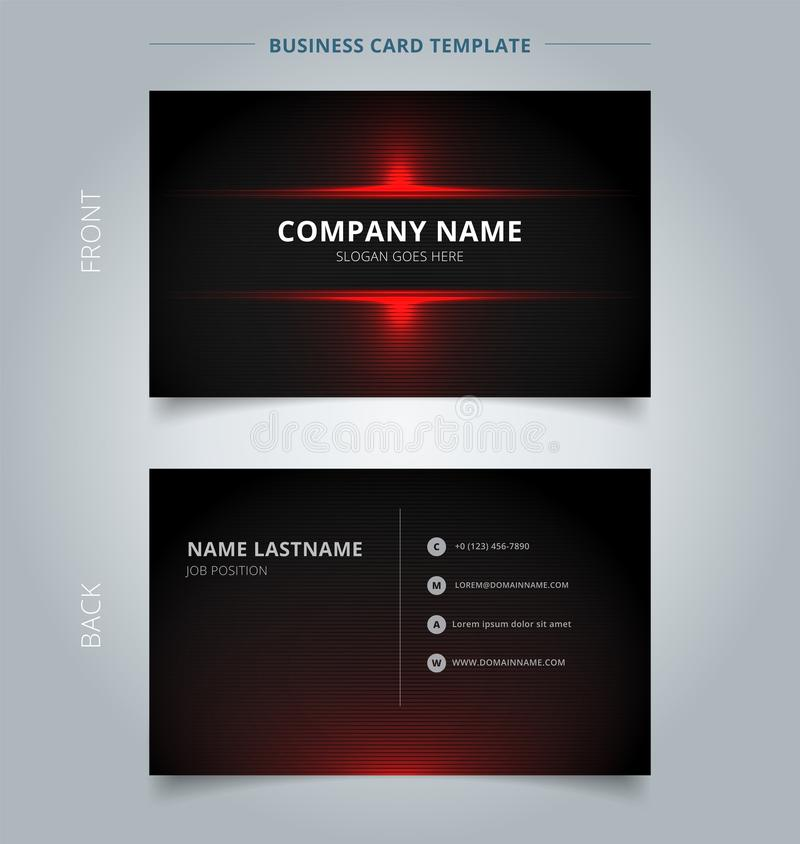 Namecard template technology red and black pattern background. Vector illustration vector illustration