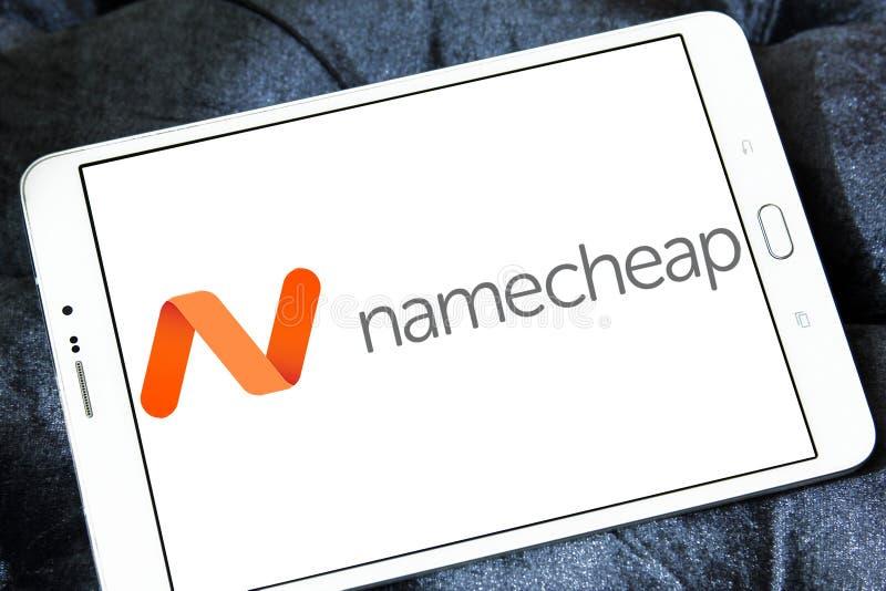 Namecheap che ospita logo della società fotografie stock libere da diritti