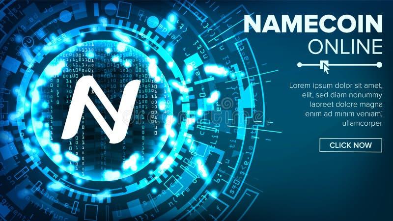 Namecoin-Zusammenfassungs-Technologie-Hintergrund-Vektor Binärer Code Fintech Blockchain cryptography Cryptocurrency-Bergbau lizenzfreie abbildung