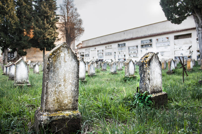 Nameless graves. A lot of graves without name royalty free stock photo