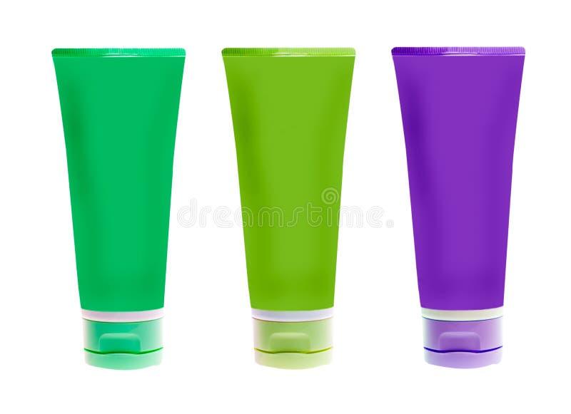 Namenlose Plastikflaschen stockfotos