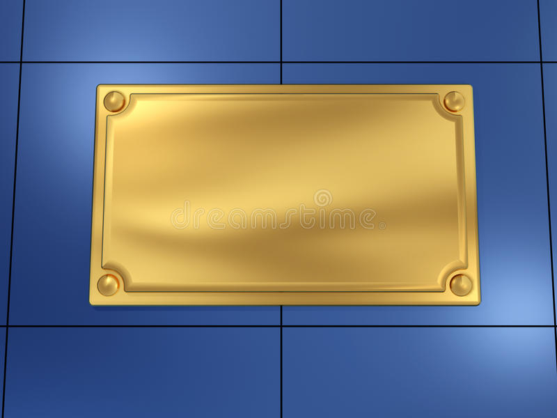 Download Nameplate stock illustration. Illustration of plaque - 11733832