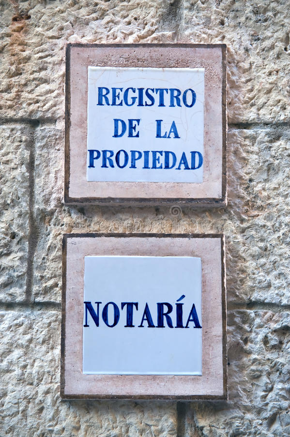 Nameplate office of a notary