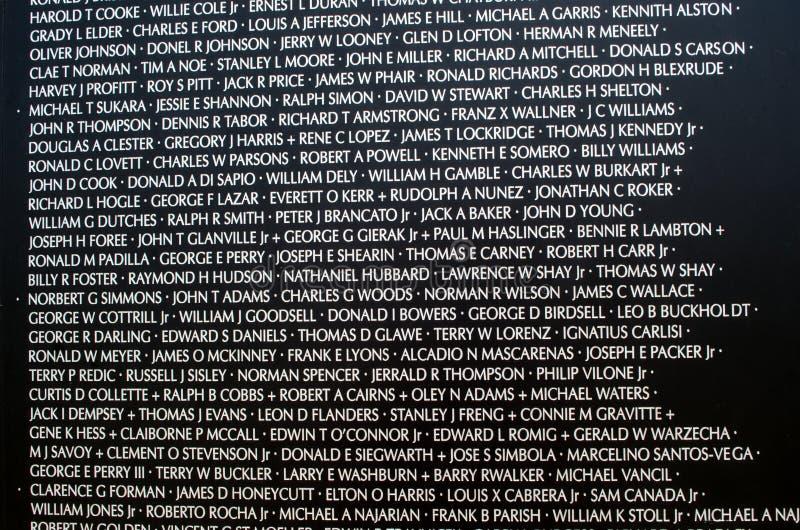 Names At The Vietnam War Memorial Editorial Photo Image