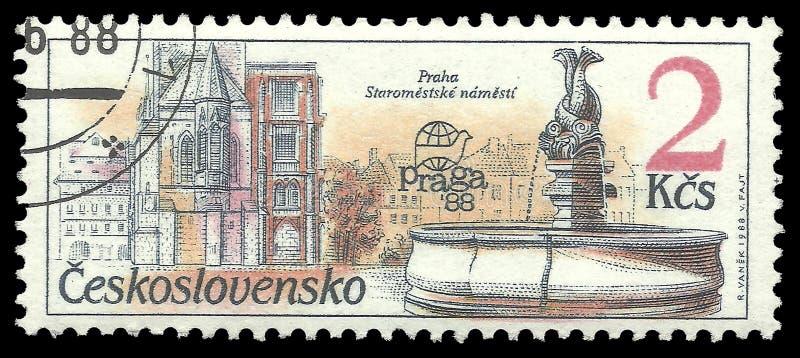Namesti de Staromestske de fontaine illustration de vecteur