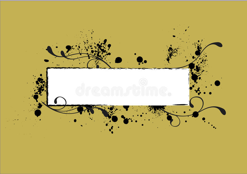 Nametag-grungy vector illustratie