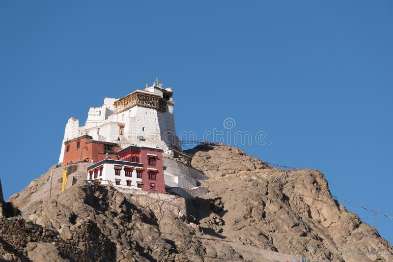 Namgyal Tsemo Gompa, buddhist monastery in Leh royalty free stock photography