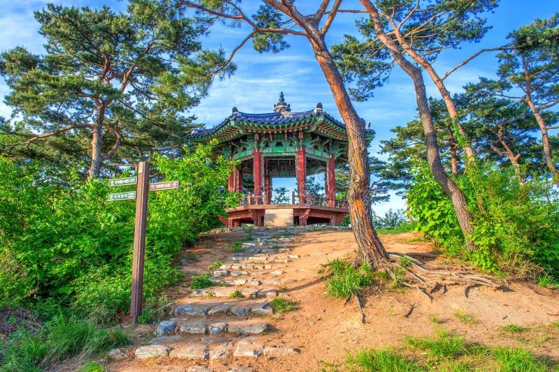 国�y���an_namhansanseong堡垒在韩国. 绿色, 包围.