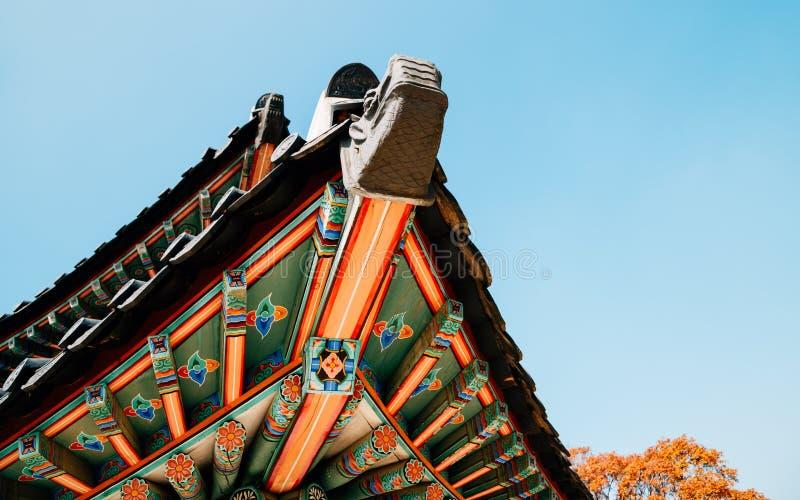 Namhansanseong-Festung, koreanisches altes Dach lizenzfreies stockbild