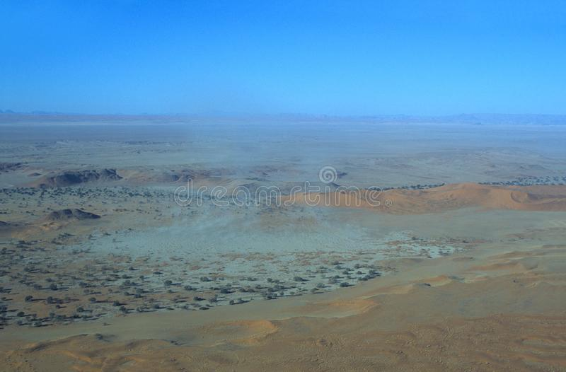 Namib-Naukluft鸟瞰图  图库摄影