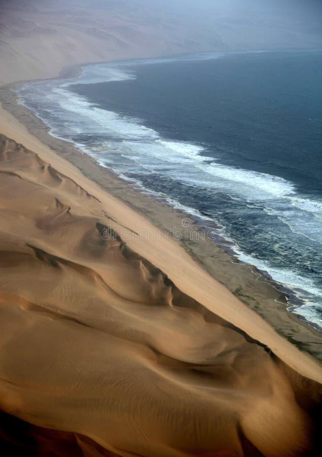 Namibië, de Namib-woestijn stock foto