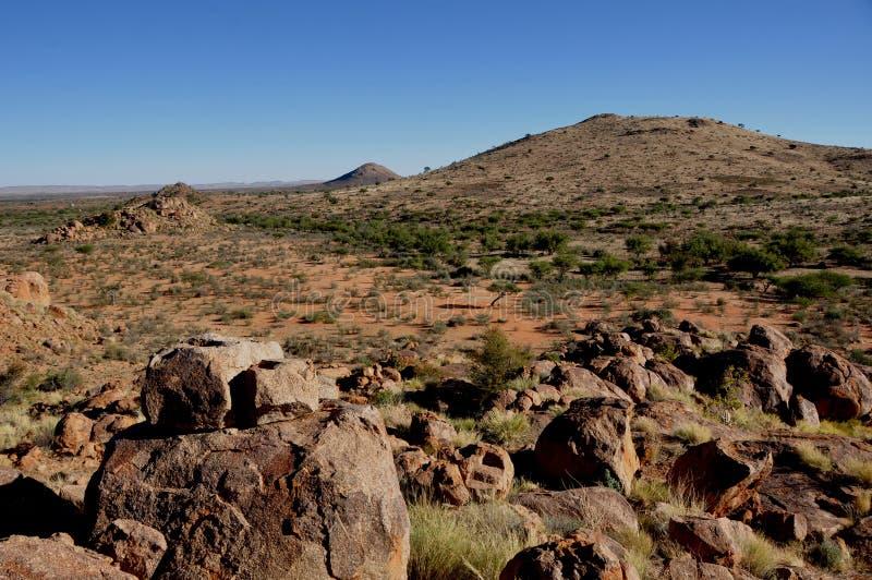 Namibië: Reuzenspeelplaats een rotsachtige woestijn in het Zuiden van Namibi royalty-vrije stock foto