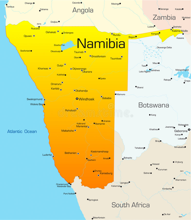 Namibia stock illustrationer