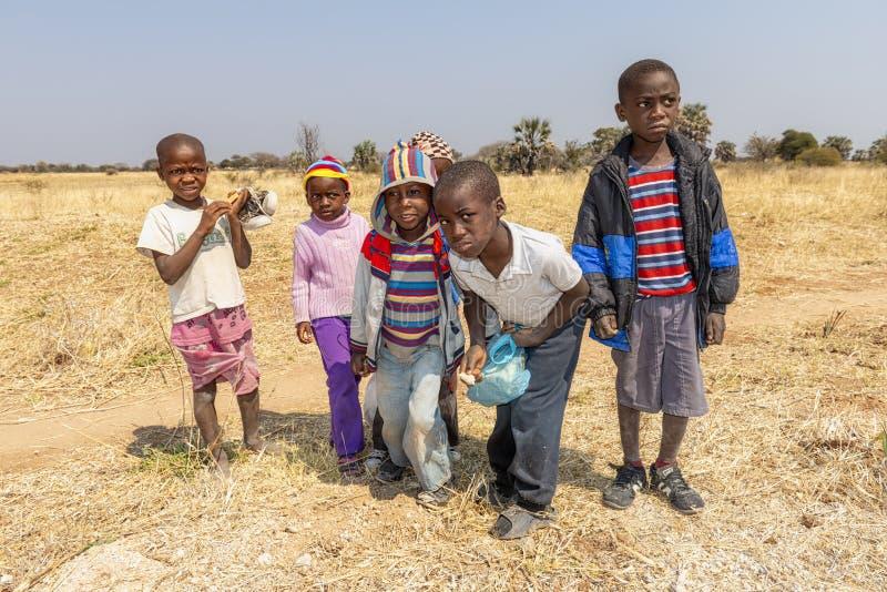 Namibia, Africa. Rundu, Kavango. Namibia, Africa. Children in Rundu, North Namibia, Kavango region stock photography
