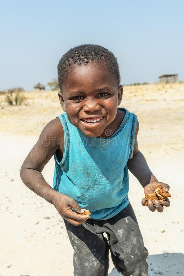 Namibia, Africa. Rundu, Kavango. Namibia, Africa. Children in Rundu, North Namibia, Kavango region royalty free stock photography