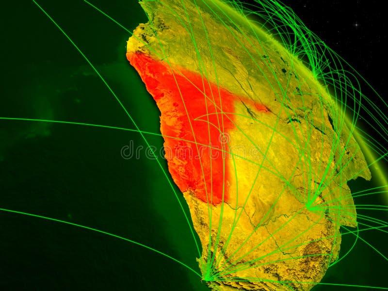 Namibia en el globo digital stock de ilustración