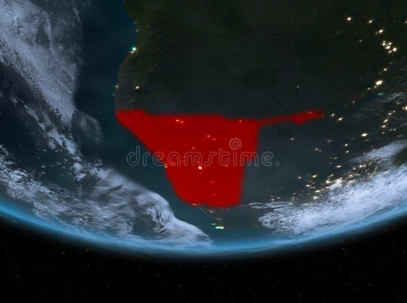 Namibia en la noche ilustración del vector