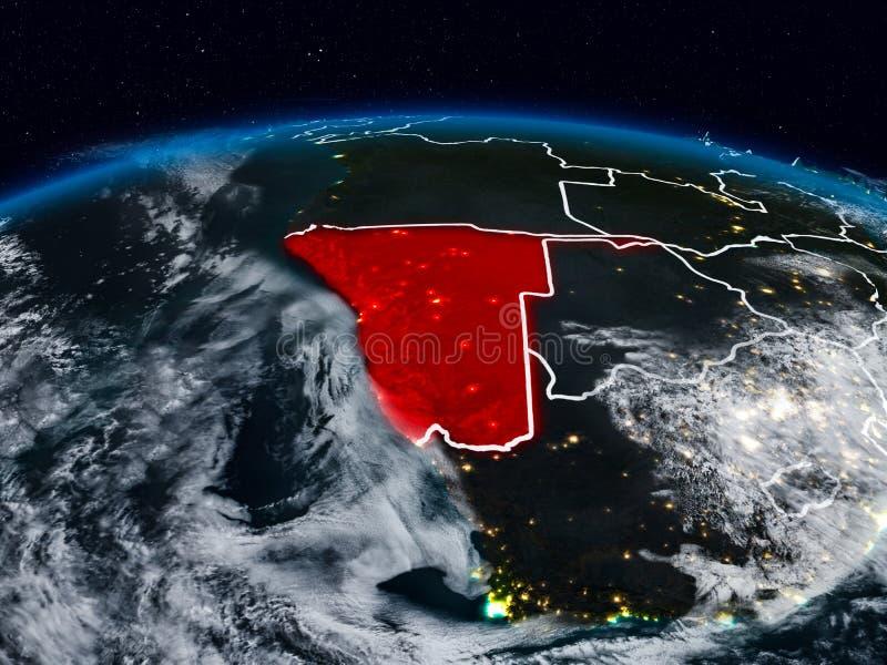 Namibia en la noche imágenes de archivo libres de regalías