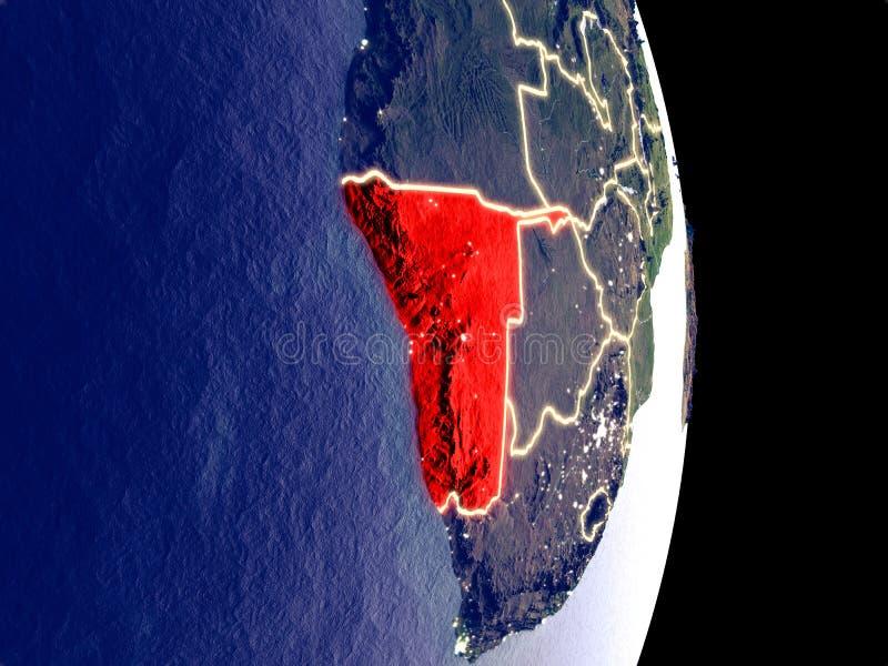 Namibia en la tierra de la noche stock de ilustración