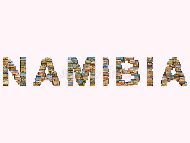 Namibia föreställer collage fotografering för bildbyråer