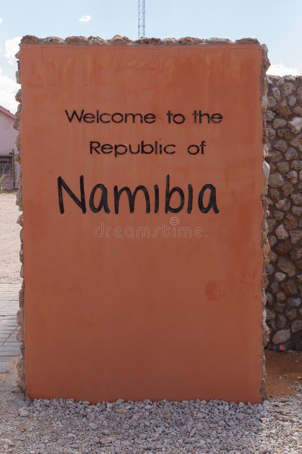 Namibia korsgräns royaltyfria foton