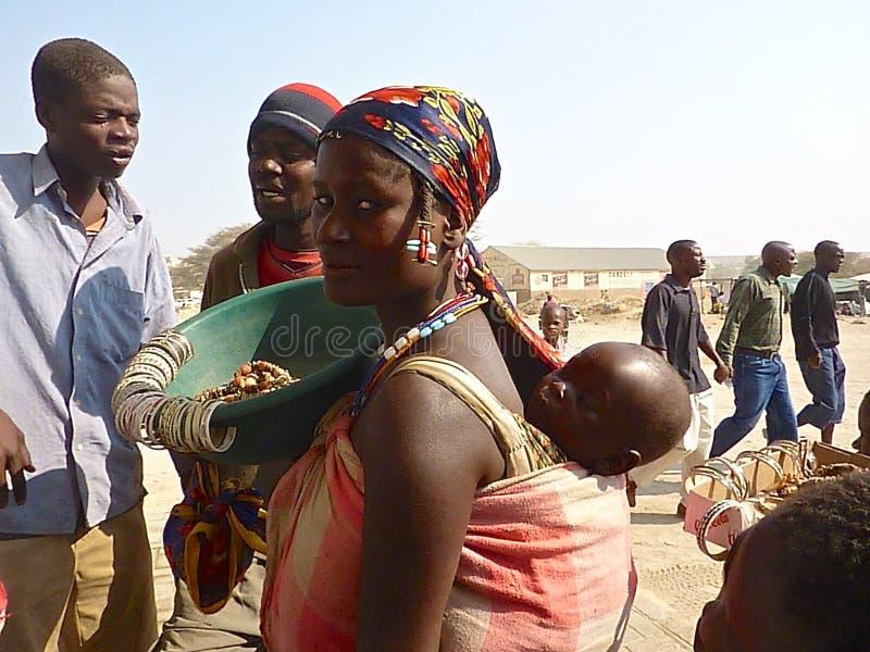 Namibia-Leute stockfotos
