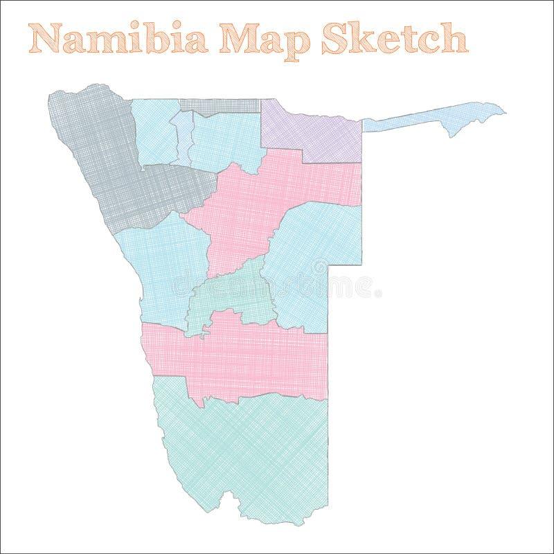 Namibia mapa ilustracja wektor