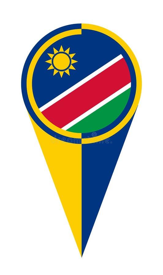Namibia mapy pointeru lokacji flaga royalty ilustracja